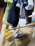 Clothes hanger. Close up of clothes hanger royalty free stock photos