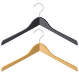 Clothes hanger. Vector illustration of two clothes hangers on white Royalty Free Stock Photography