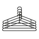 Clothes Hanger Black Plastic on White Background Stock Images