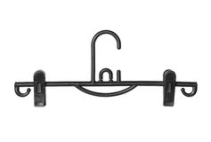 Clothes hanger with clips Royalty Free Stock Photography