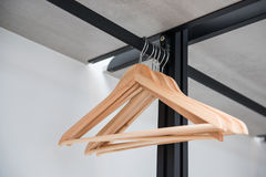 Clothes hanger on clothes rail Royalty Free Stock Image