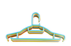 Clothes hanger isolated Stock Images