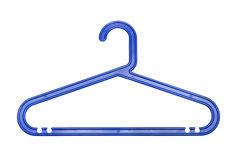 Clothes Hanger from plastic, isolated Stock Photos