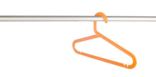 Clothes hanger on rack Stock Photo