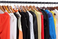 Clothes hanger on Shelf Royalty Free Stock Images