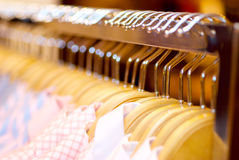 Clothes hanger with shirts Royalty Free Stock Image