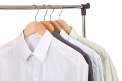 Clothes hanger with shirts Stock Image