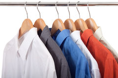 Clothes hanger with shirts Stock Photography