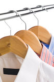 Clothes hanger with shirts Royalty Free Stock Photo