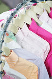 Clothes on hanger in shop Royalty Free Stock Images