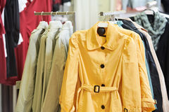 Clothes on hanger in shop Stock Photography