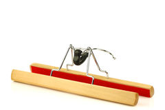 Clothes hanger for trousers Royalty Free Stock Images