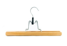 Clothes hanger for trousers Stock Photos