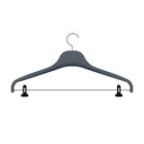 Clothes hanger vector illustration. Coat rack for hanging appare Royalty Free Stock Image