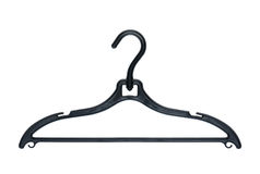Clothes hanger on white background. Stock Photos