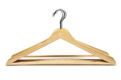 Clothes hangers. Some clothes hangers isolated on a white background royalty free stock images