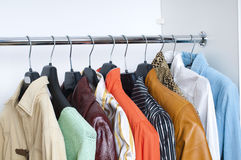 Clothes on hangers Royalty Free Stock Photography