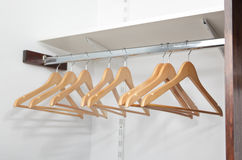 Clothes hangers Stock Photo