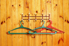 Clothes hangers Stock Photography