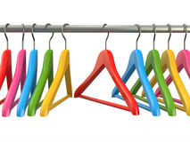 Clothes hangers. 3d Royalty Free Stock Photo