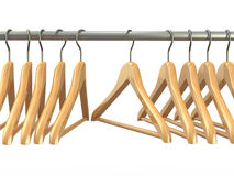 Clothes hangers. 3d Royalty Free Stock Photography