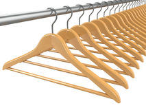 Clothes hangers. 3d Stock Image