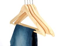 Clothes Hangers Stock Photo
