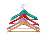 Clothes hangers colored Stock Photo