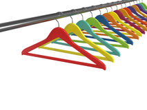 Clothes hangers isolated Stock Photos