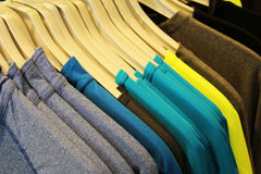 Clothes on hangers Royalty Free Stock Photos