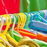 Clothes hanging Royalty Free Stock Photo
