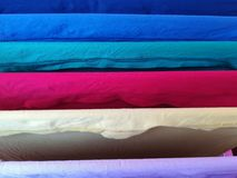 Clothes hanging on the drying rack royalty free stock photography