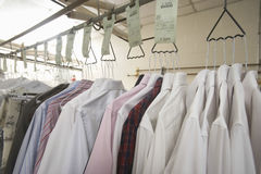 Clothes Hanging On Hanger In Laundry Royalty Free Stock Images