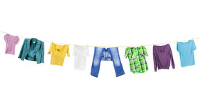 Clothes hanging Royalty Free Stock Photos