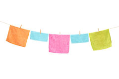 Clothes hanging on a line Royalty Free Stock Photo