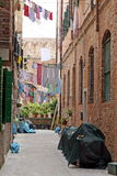 Clothes hanging out to dry on a canal in Venice Royalty Free Stock Photography