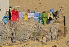 Clothes hanging out to dry Royalty Free Stock Photo