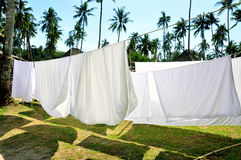Clothes hanging out to dry Royalty Free Stock Photography