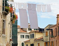 Clothes hanging out to dry Venice Royalty Free Stock Photo