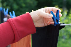 Hanging clothes Royalty Free Stock Photos