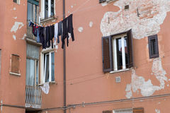 Clothes hanging in the sun. Washed clothes hanging out to dry in the sun Stock Photography