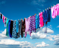 Clothes hanging to dry Royalty Free Stock Photo