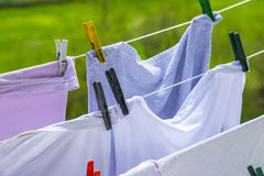 Clothes hanging to dry Royalty Free Stock Image