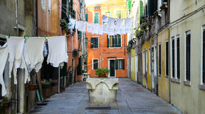 Clothes hanging in venice Royalty Free Stock Photography
