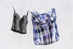 Clothes hung out to dry Royalty Free Stock Image