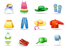 Clothes icon set Stock Photo