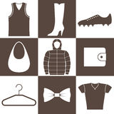 Clothes. Icon Set Royalty Free Stock Photography