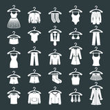Clothes icon set. Stock Photography