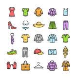 Clothes Icon Set. Vector Royalty Free Stock Photo