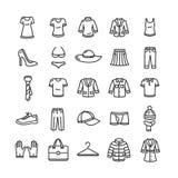 Clothes Icon Set. Vector Royalty Free Stock Photos